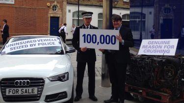 大都会警方的运作古米抓住了100,000辆车