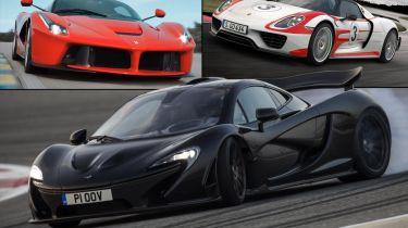 Ferrari Laferrari VS McLaren P1 VS Porsche 918 Spyder:高级战斗