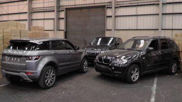 £1.2米的被盗豪华车在英国港口扣除