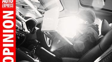 """""""驾驶者可能被愚弄,相信汽车盗窃是猖獗的。但它不是。"""""""