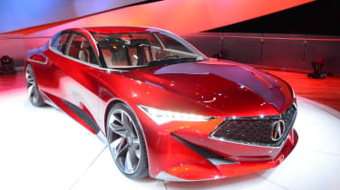 Acura精确概念显示在底特律2016年