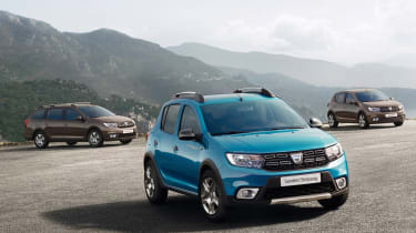 Dacia Sandero,Stepway和Logan Facelift:价格和规格透露