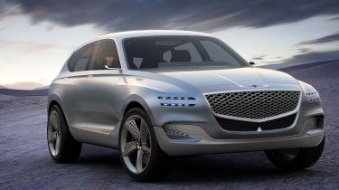 Genesis GV80燃料 - 细胞SUV概念在纽约透露
