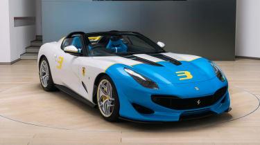 新的一次性Ferrari SP3JC透露6.3升769BHP v12