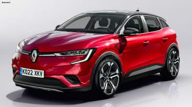 新的2021雷诺梅内恩电动交叉到铅品牌的EV充电
