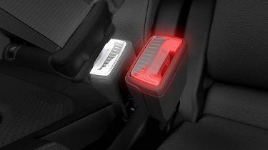 斯柯达专利世界上第一个灯光安全带扣