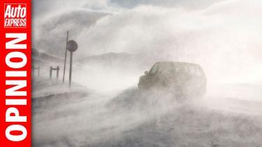 """""""英格兰高速公路就像始终拥有的一样糟糕地处理冰盖的道路"""