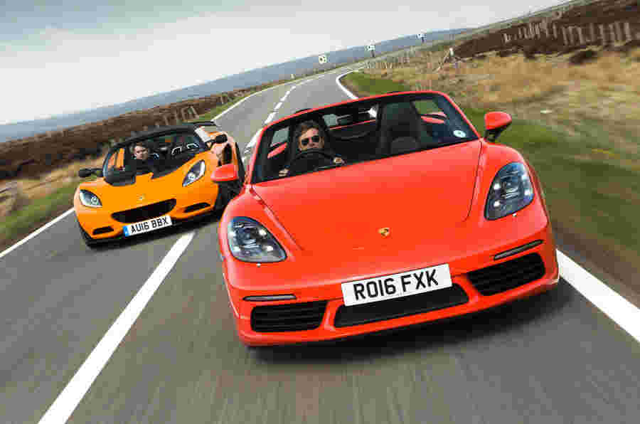 Porsche 718 Boxster S VS Lotus Elise:跑车比较