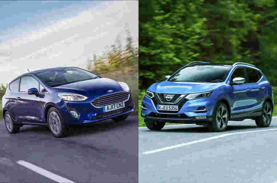 日产Qashqai超越了Ford Fiesta作为九月的大多数注册车