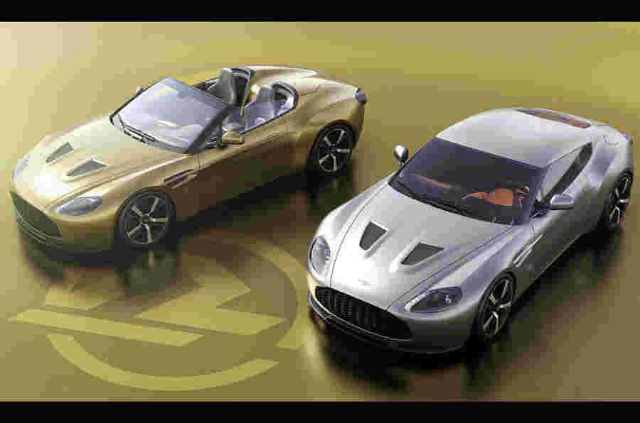 阿斯顿马丁Vantage v12 Zagato遗产双胞胎在英国建造