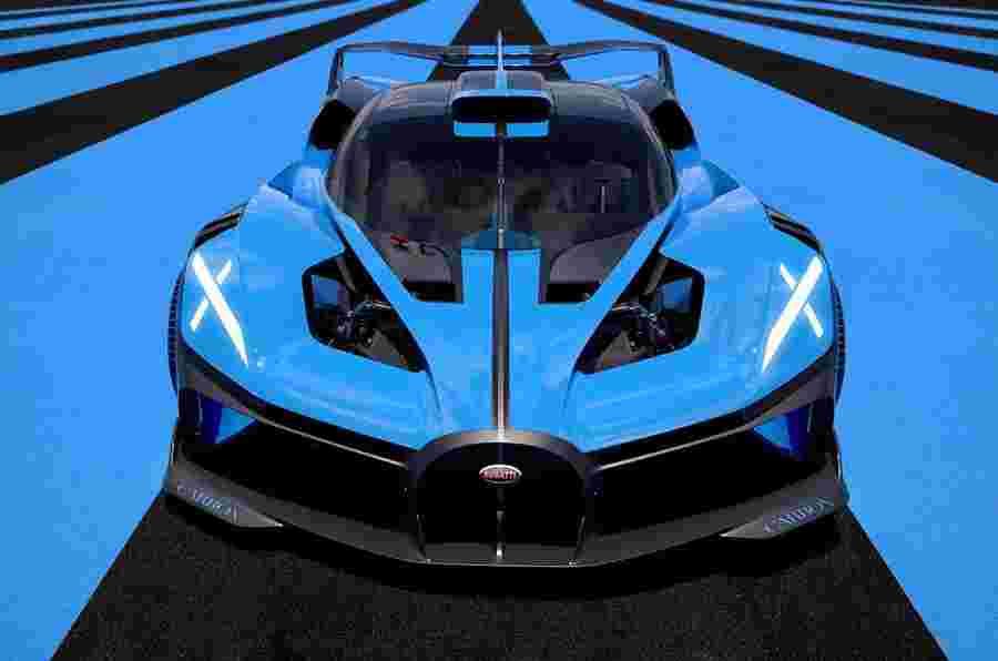 新的Bugatti Bolide是1825bhp,1240kg轨道武器