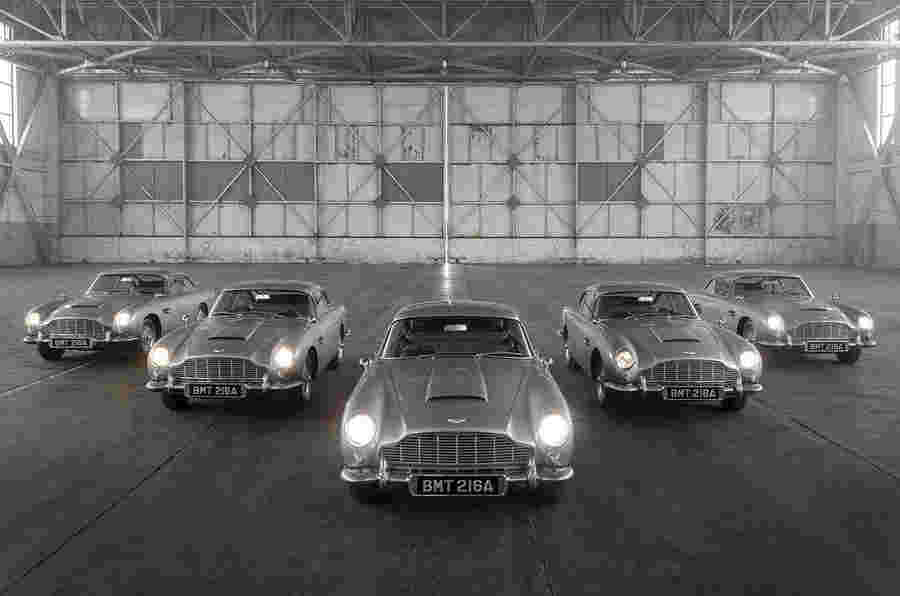 Aston Martin DB5 Goldfinger:007-主题的交付特殊开始