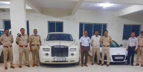 卡纳塔克邦交通部门查获的豪车中的劳斯莱斯和保时捷