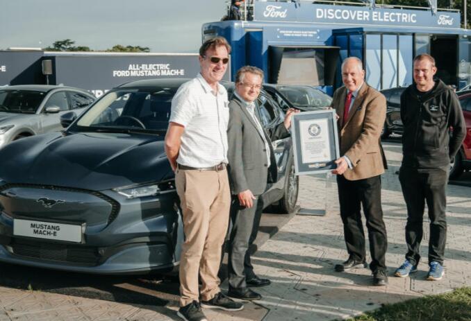 福特野马Mach-E创造了电动汽车效率的世界纪录