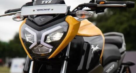 TVS的Raider是该细分市场中其他125cc自行车的直接竞争对手