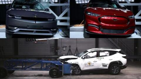 现代途胜与Ioniq 5和福特野马Mach-E以优异的成绩通过碰撞测试